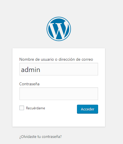 Entrar a WordPress