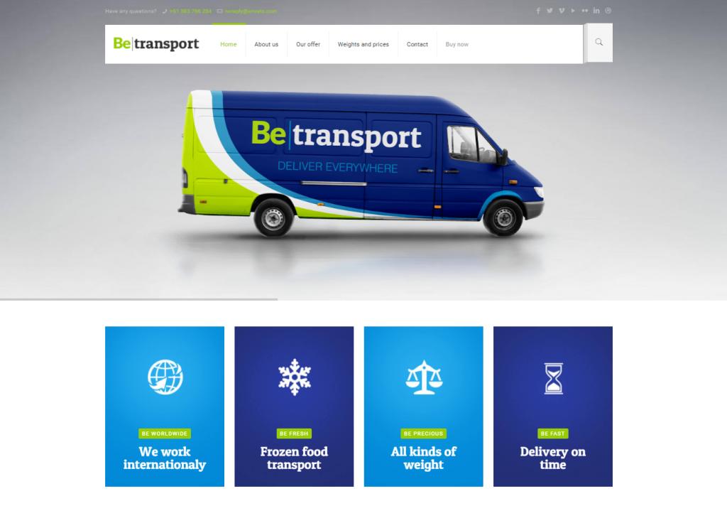 plantilla servicios de transportes