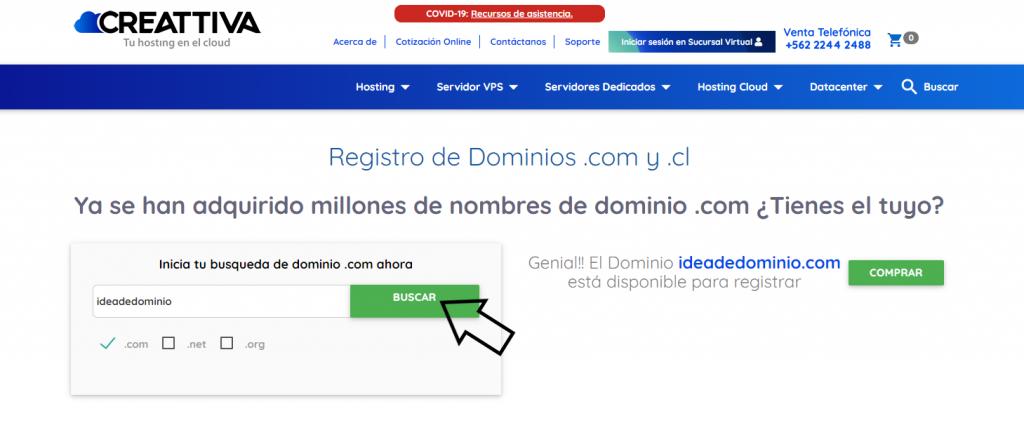 disponibilidad de dominio .com