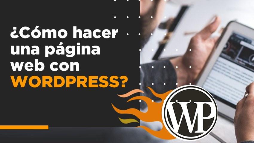 como crear sitio web wordpress
